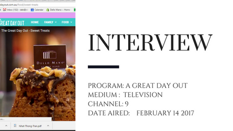 "Dello Mano appears on the television program "" A great day out"""