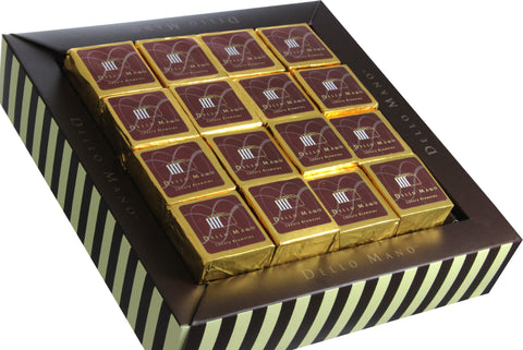 Dello Mano Signature Gift Box of Luxury Belgian Chocolate Brownies