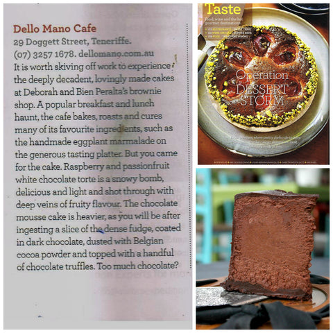 Dello Mano article in the Qantas Magazine
