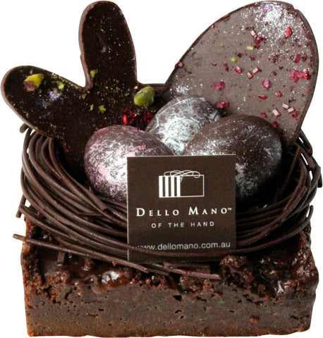 Easter- Brownie Pie with Easter Eggs - Easter Gift - Dello Mano