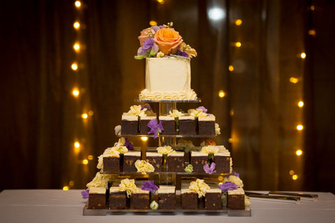Dello Mano Luxury Brownie Wedding Cake