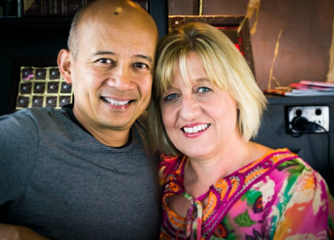 Deborah and Bien Peralta Founders Dello Mano Luxury Brownies