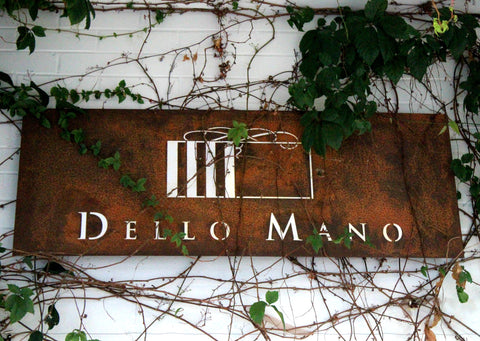 Dello Mano Store Sign to Brownie Heaven