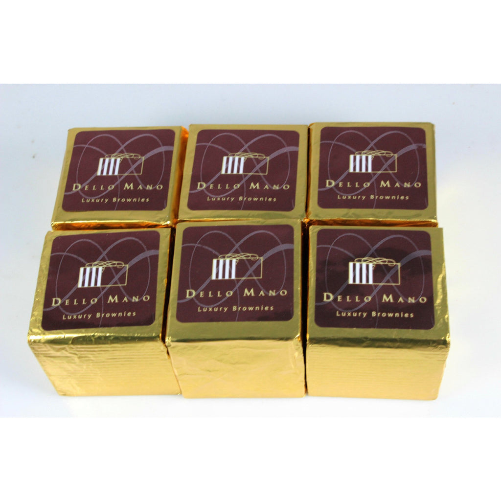 Dello Mano Luxury Brownies : 6 pce gift box BULK BUY - Dello Mano  - 1