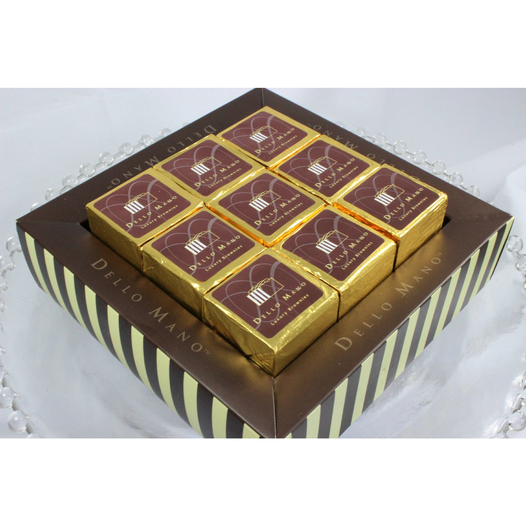 Dello Mano Luxury CLASSIC Brownies Cube- 9 pce gift box: BULK BUY - Dello Mano - 1