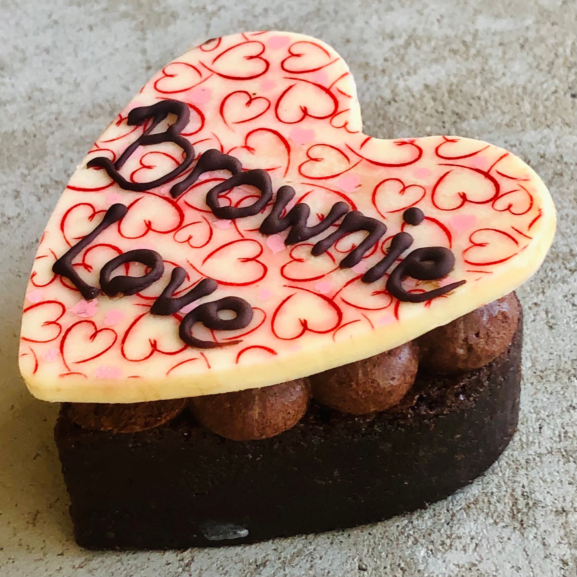 Brownie Love Heart