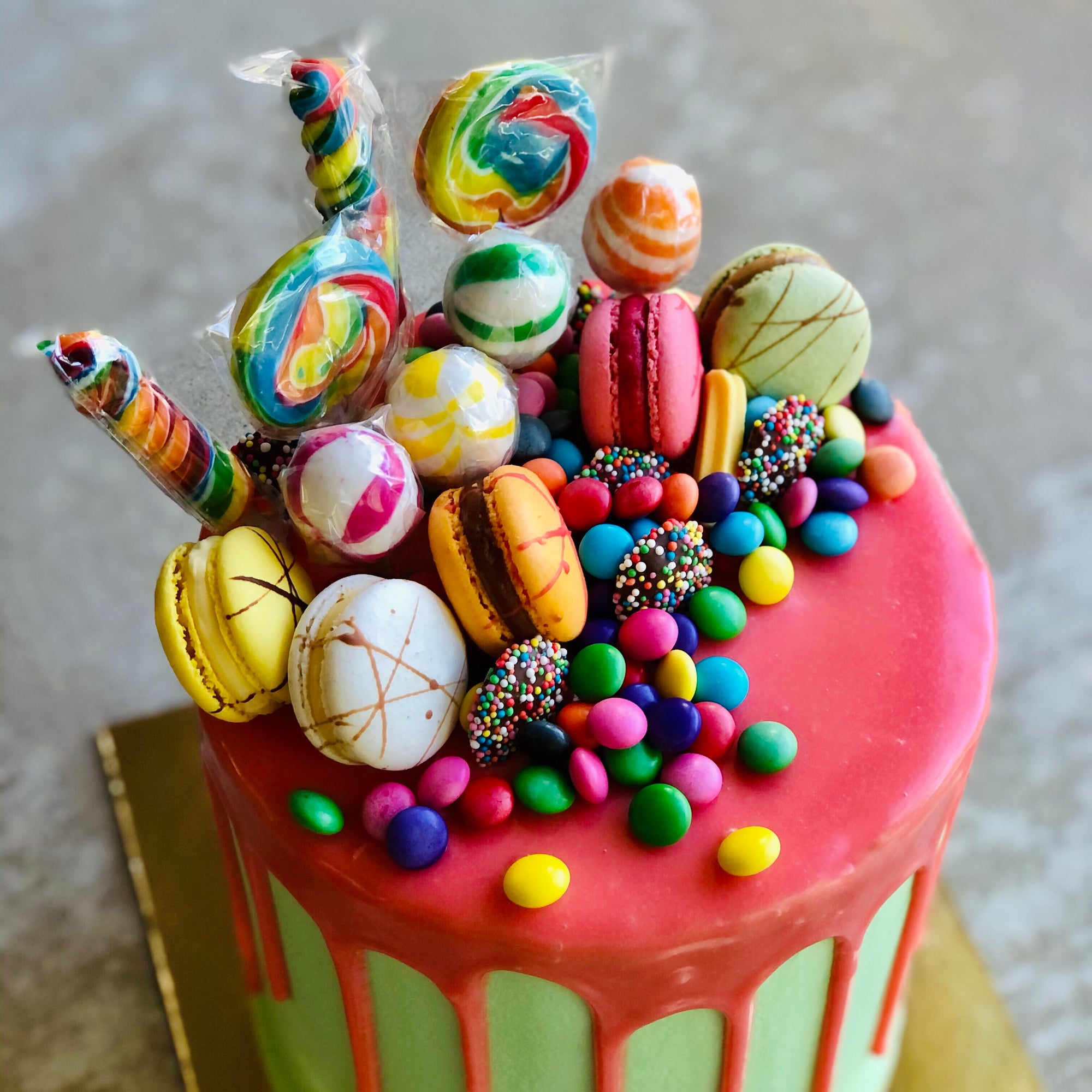 Birthday Lollipop Drip Cake
