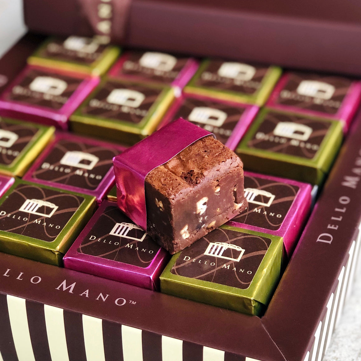 Chocolate Gift Box Luxury Brownie - Checkerboard Classic & Peanut Butter