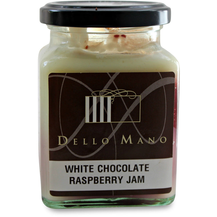 Raspberry & Belgian White Chocolate Jam - Dello Mano - Jar - 1