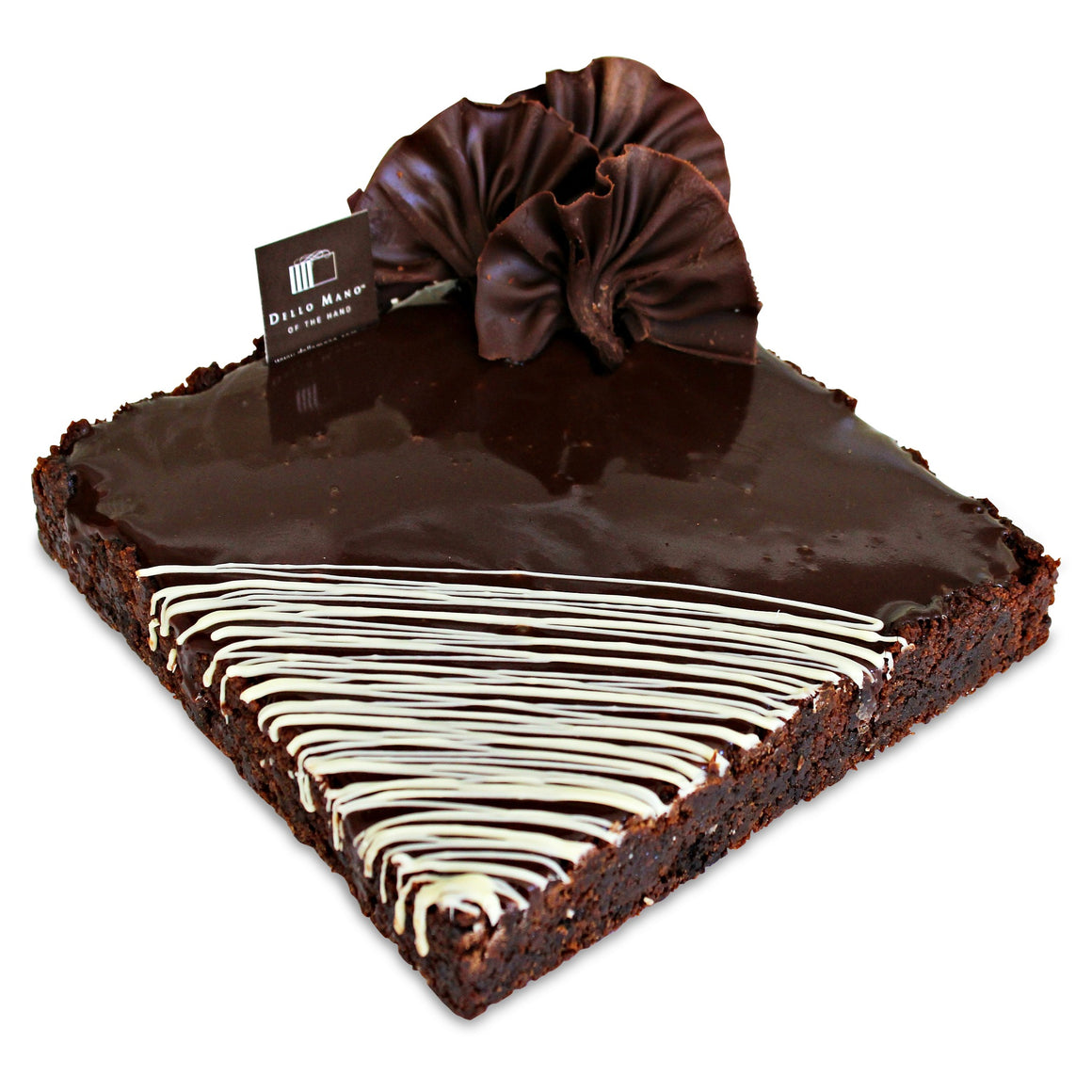 Luxury Brownie & Belgian Chocolate Ganache Tart - Dello Mano -2