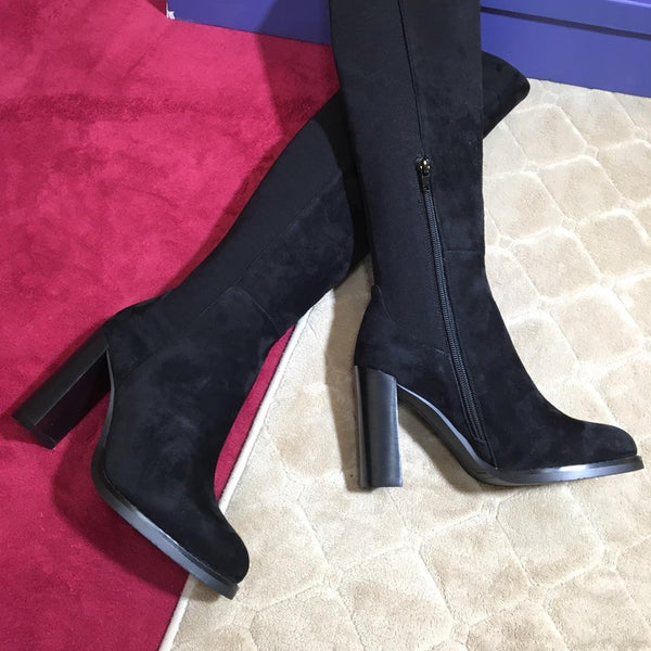 Stretch Heeled Boots - 2 Models