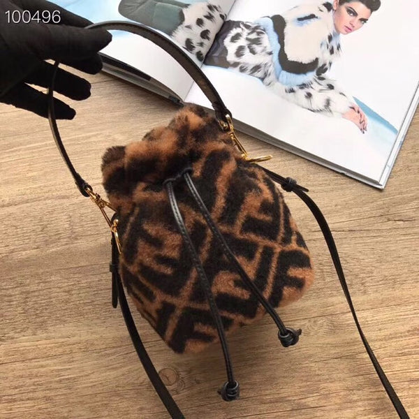 Mini Fur Bucket Bag