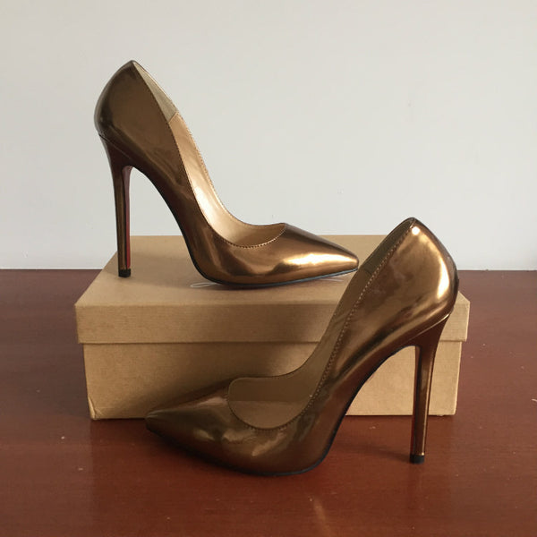 Patent Bronze 120mm Pumps