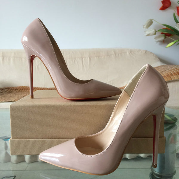 Patent Nude 120mm Pumps