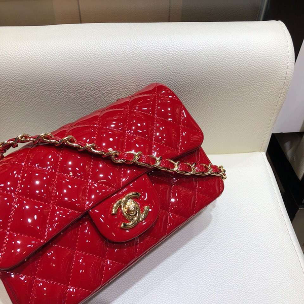 Patent Mini Shoulder Bag