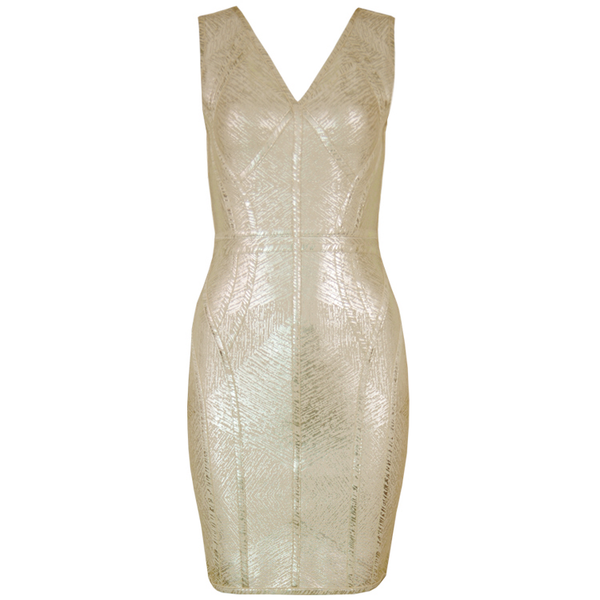 Metallic Bandage Dress