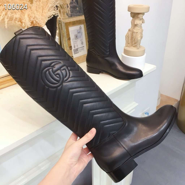 Leather Knee Boot