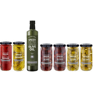 Hellenic Farms greek olives pickled veggies