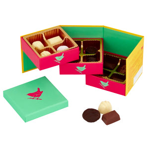 Jenny Wren Chocolates 3-Tier fold out gift box