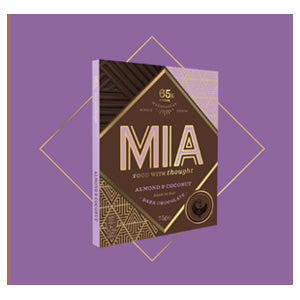 MIA Food with Thought almond coconut dark chocolate