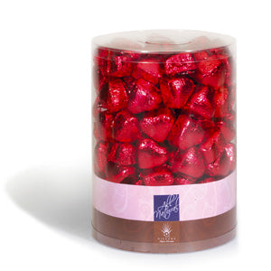 Nirvana holiday red foil wrapped milk chocolate hearts
