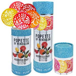 Popette Of Pendulum Assorted Fruit canisters