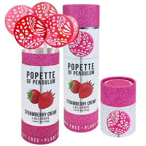 Popette Of Pendulum Strawberry Creme canisters