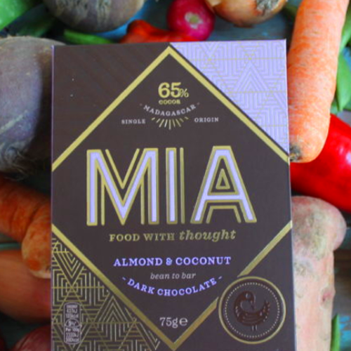 MIA Food with Thought Almond & Coconut Dark Chocolate