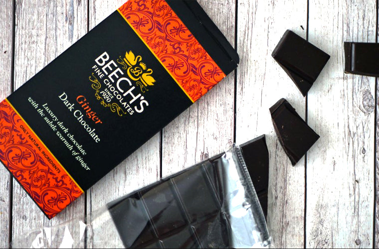 Beech's Fine Chocolates ginger dark chocolate bar