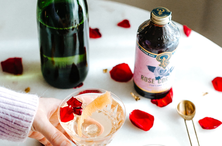 Portland Syrups Rose Champagne Syrup