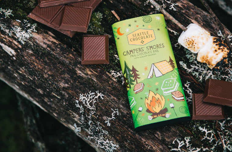 Seattle Chocolate campfire s'mores truffle bar