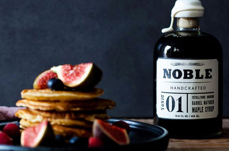 Noble Handcrafted bourbon whiskey syrup