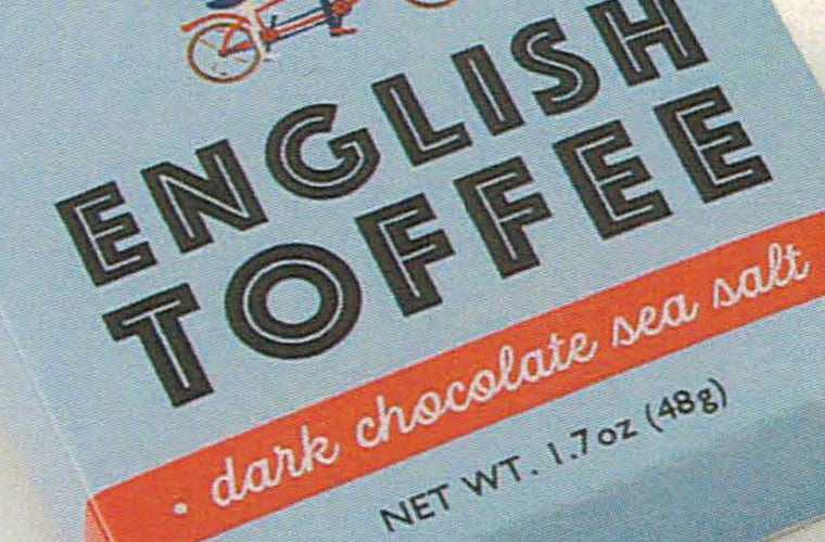 Pippa & Jack's English Toffee dark chocolate sea salt