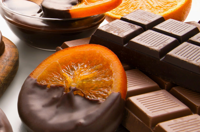 Torn Ranch chocolate dipped oranges