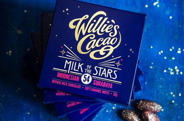 Willie's Cacao milk of the stars chocolate bar