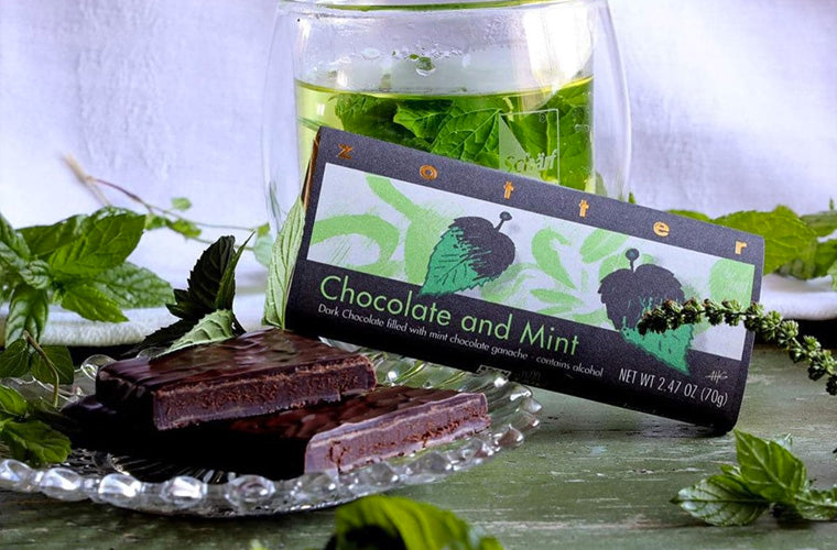 Zotter Chocolate chocolate and mint bar