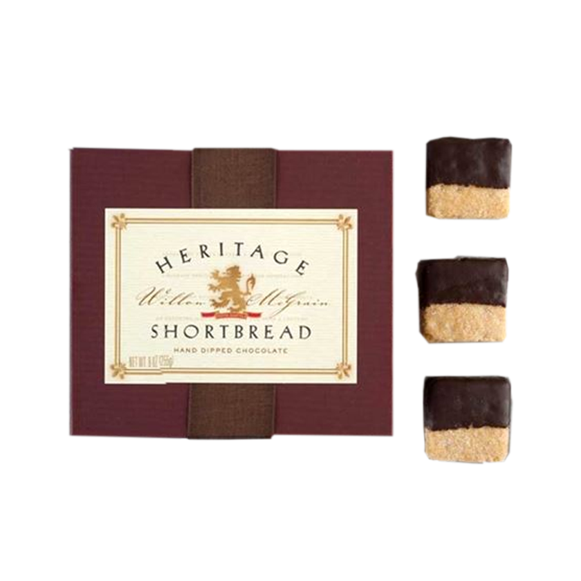 Heritage Shortbread Traditional Shortbread Hand Dipped in Chocolate (med box)