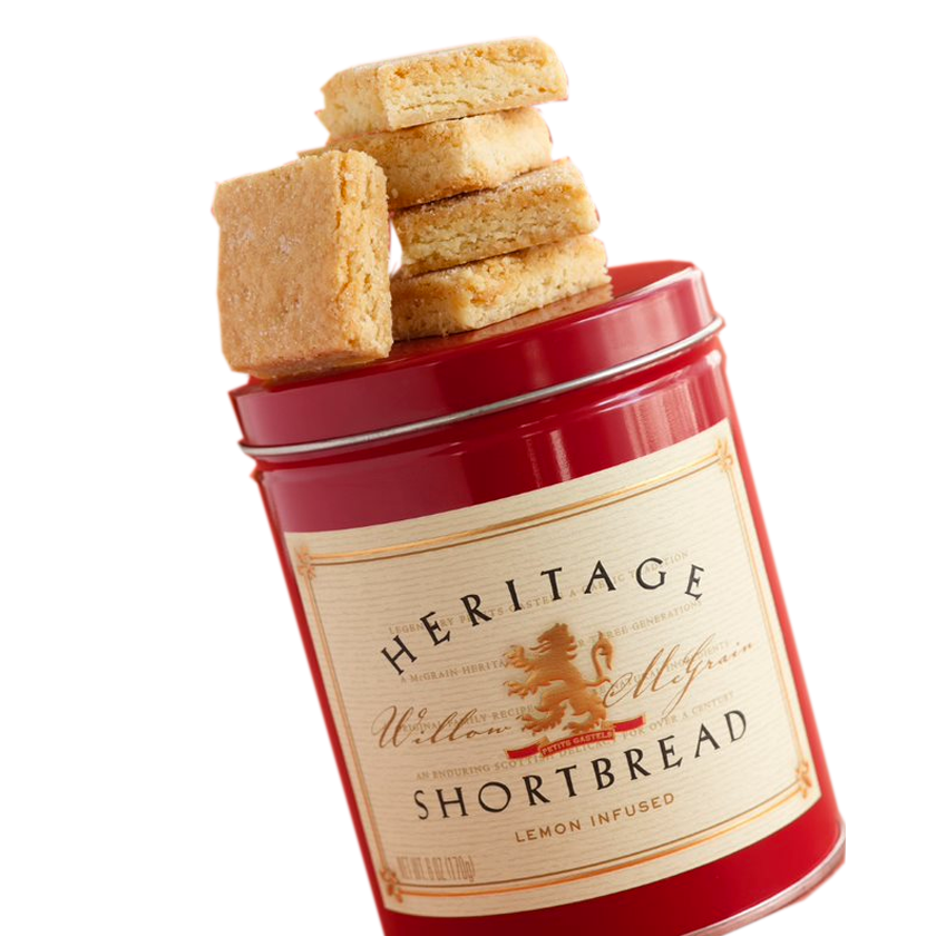 Heritage Shortbread Lemon Infused Shortbread (small tin)