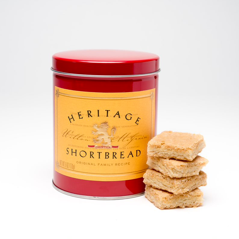 Heritage Shortbread Traditional Shortbread Hand Dipped in Chocolate (small tin)