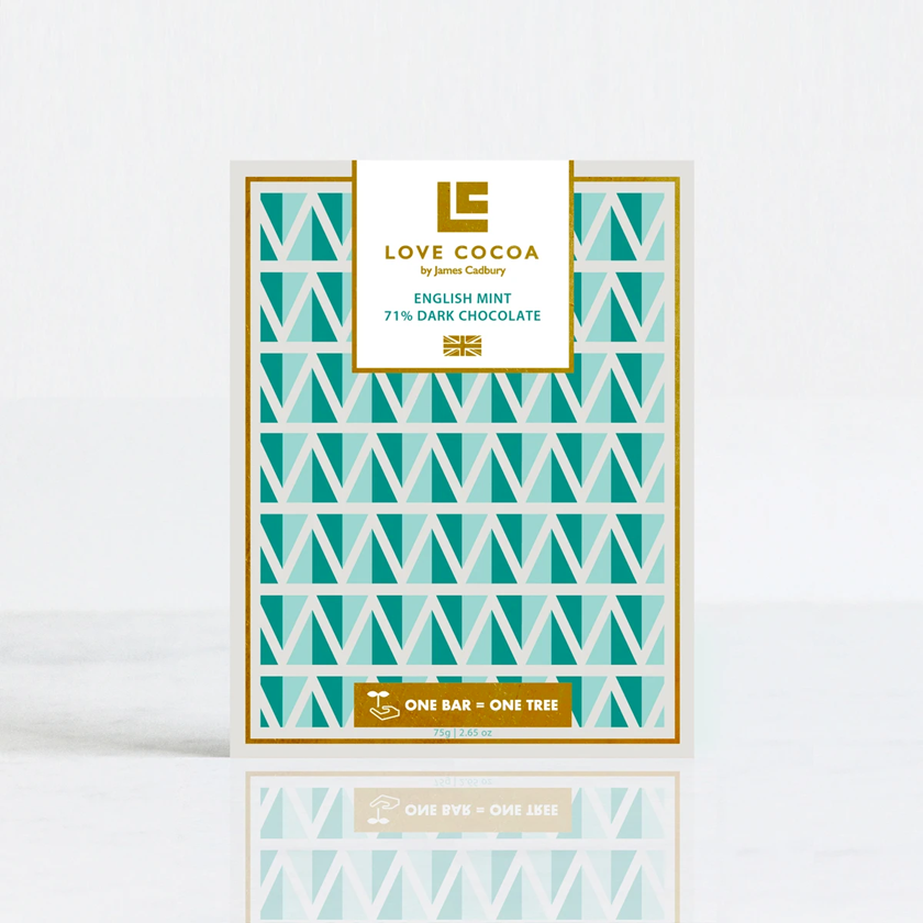 Love Cocoa English Mint Dark Chocolate bars