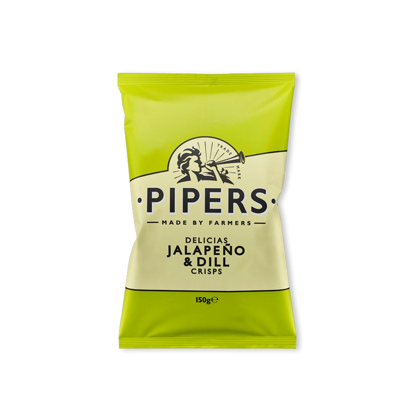 Pipers Crisps Jalapeno & Dill