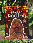 Pet Photo and Name on Garden Flag Autumn Fall Leaves-FacedShop