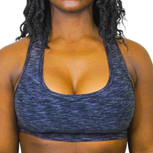 Load image into Gallery viewer, MIDNIGHT SPACEDYE SPORTS BRA