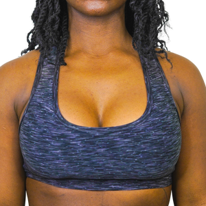 MIDNIGHT SPACEDYE SPORTS BRA