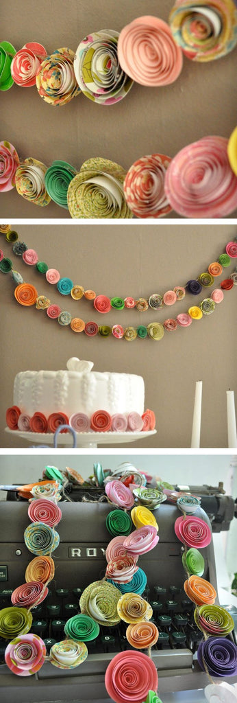 Wedding Banner Trends: DIY Flower Garland