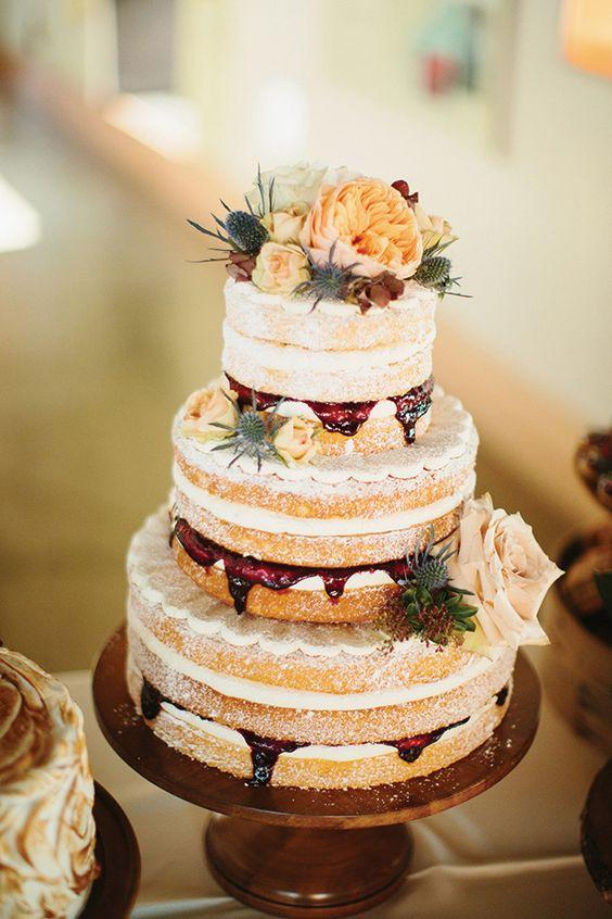 Pros and Cons of a Naked Wedding Cake