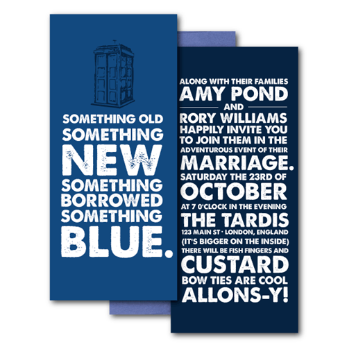 A Dr. Who Wedding for the Whole Family