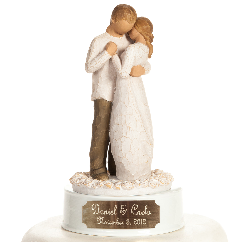 "Personalized Engraved Willow Tree ® ""Promise"" Wedding Cake Topper"