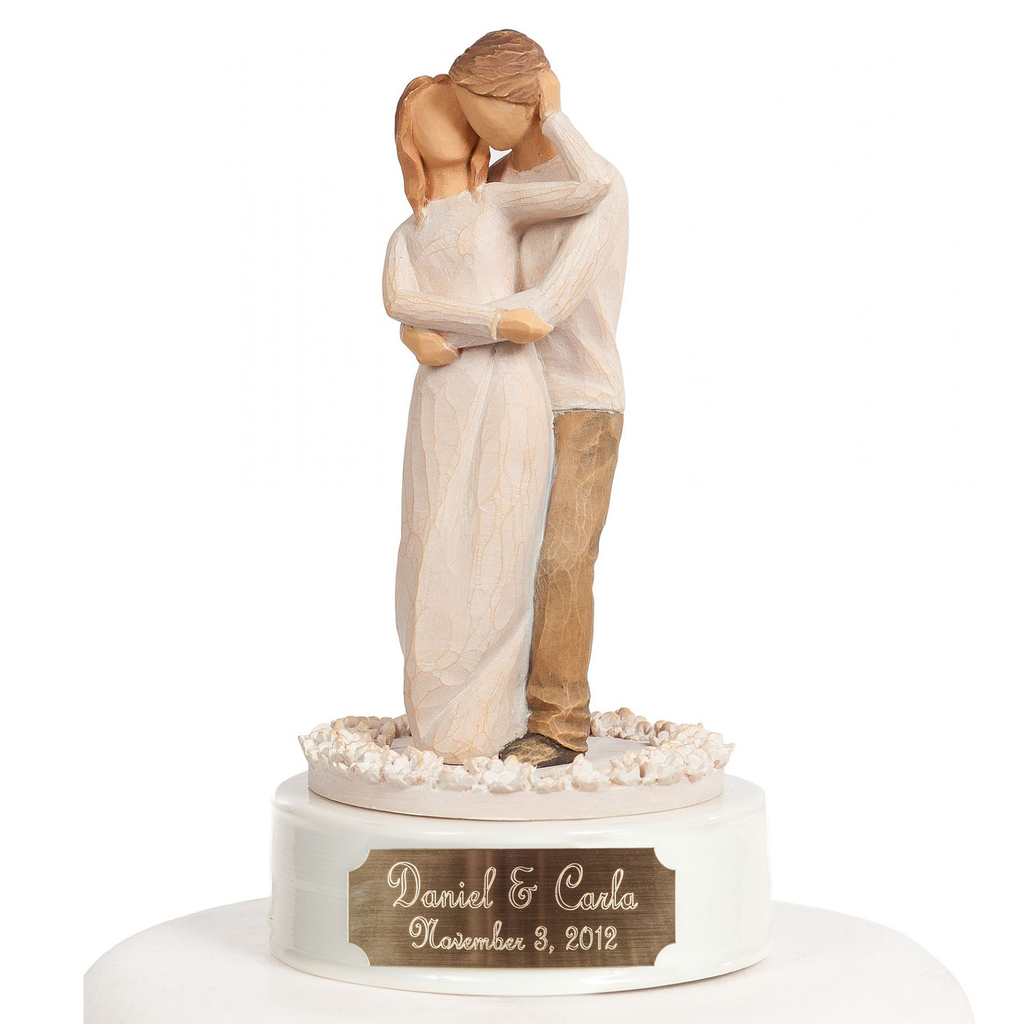 "Personalized Engraved Willow Tree ® ""Together"" Wedding Cake Topper"