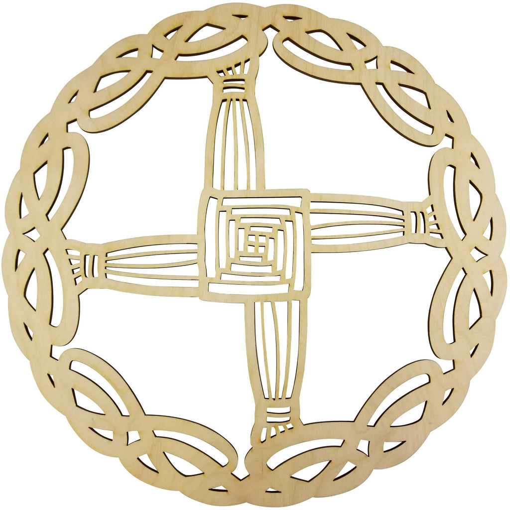 "12"" Celtic St Brigid's Cross Celtic Knot Wall Art 